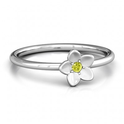 Stackr 'Azelie' Flower Personalised Ring - AMAZINGNECKLACE.COM