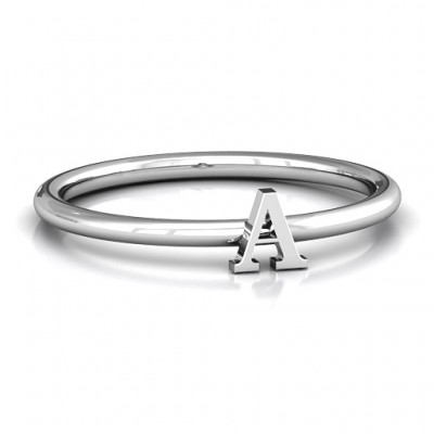 Stackr A-Z Personalised Ring - AMAZINGNECKLACE.COM