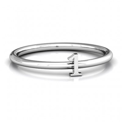 Stackr Number Personalised Ring - AMAZINGNECKLACE.COM