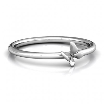 Stackr SoaPersonalised Ring Butterfly Personalised Ring - AMAZINGNECKLACE.COM