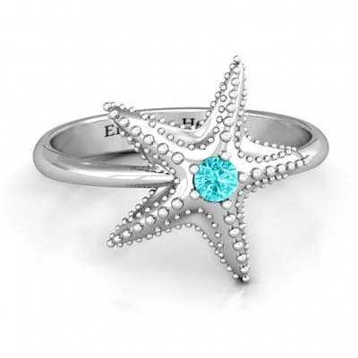Starfish Personalised Ring - AMAZINGNECKLACE.COM