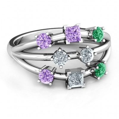 Sterling Silver  Cosmic Energy  Personalised Ring - AMAZINGNECKLACE.COM