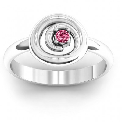 Sterling Silver  Swirling Desire  Personalised Ring - AMAZINGNECKLACE.COM