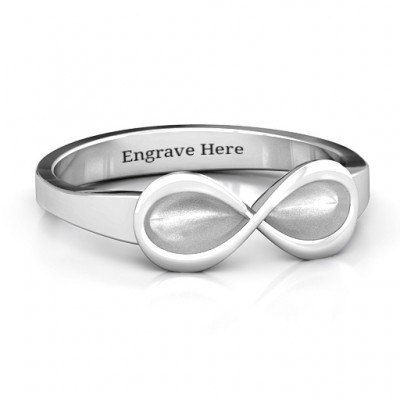 Sterling Silver  Vogue  Infinity Personalised Ring - AMAZINGNECKLACE.COM