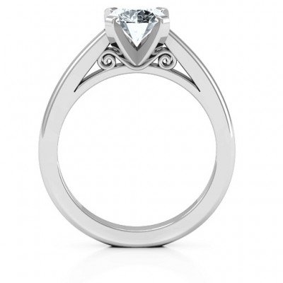 Sterling Silver Adoration Solitaire Personalised Ring - AMAZINGNECKLACE.COM
