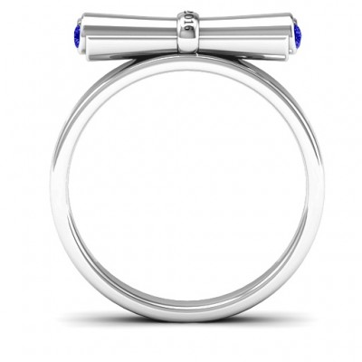 Sterling Silver Diploma Scroll Graduation Personalised Ring - AMAZINGNECKLACE.COM