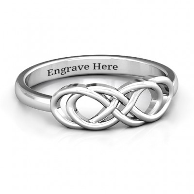 Sterling Silver Infinity Knot Personalised Ring - AMAZINGNECKLACE.COM