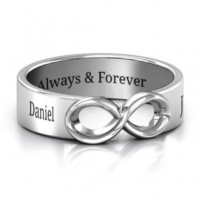 Sterling Silver Men's Expression of Infinity Band - AMAZINGNECKLACE.COM