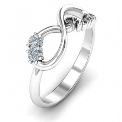 Sterling Silver Trust Infinity Personalised Ring - AMAZINGNECKLACE.COM
