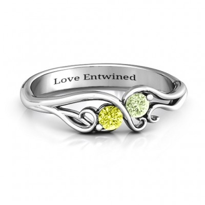 Swirl of Style Birthstone Personalised Ring  - AMAZINGNECKLACE.COM