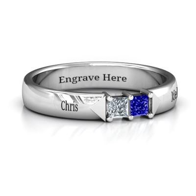 Timeless Romance Personalised Ring - AMAZINGNECKLACE.COM