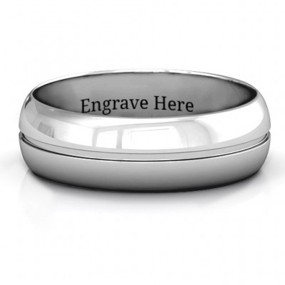 Titus Grooved Men's Personalised Ring - AMAZINGNECKLACE.COM