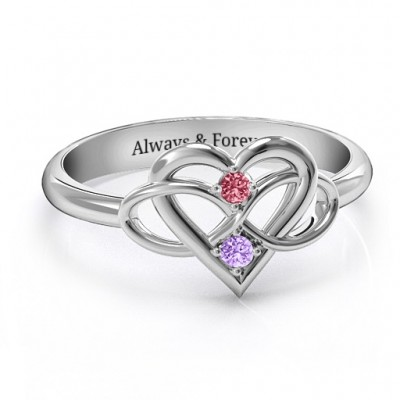 Together Forever Two-Stone Personalised Ring  - AMAZINGNECKLACE.COM