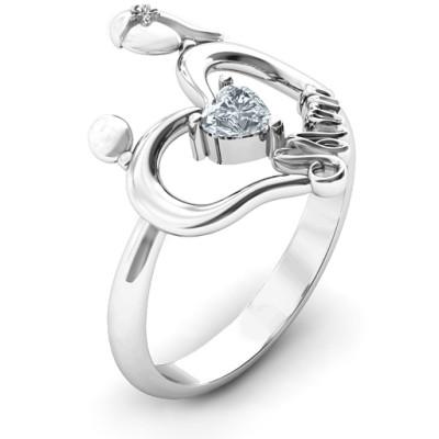 Unbreakable Bond Heart Personalised Ring - AMAZINGNECKLACE.COM