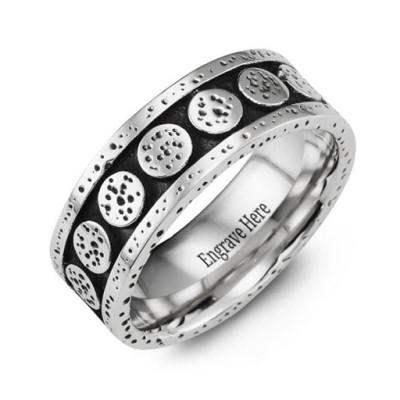 Unique Cobalt Personalised Ring - AMAZINGNECKLACE.COM