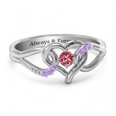 You Have My Heart Personalised Ring with Accents - AMAZINGNECKLACE.COM
