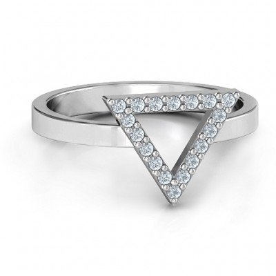 Your Best Triangle with Accents Personalised Ring - AMAZINGNECKLACE.COM