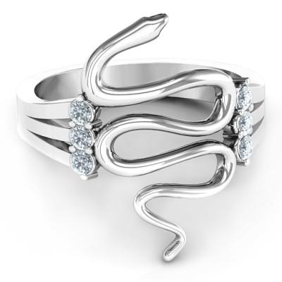 Zig Zag Snake Personalised Ring - AMAZINGNECKLACE.COM
