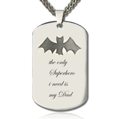 Man's Dog Tag Bat Name Personalised Necklace - AMAZINGNECKLACE.COM