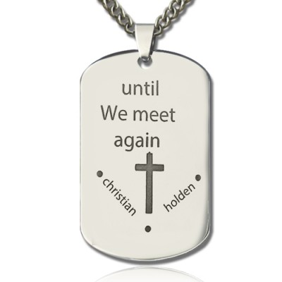 Remembrance Dog Tag Name Personalised Necklace - AMAZINGNECKLACE.COM