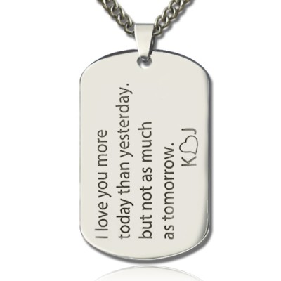Love Song Dog Tag Name Personalised Necklace - AMAZINGNECKLACE.COM
