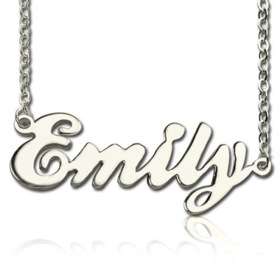 Custom Cursive Name Personalised Necklace Sterling Silver - AMAZINGNECKLACE.COM