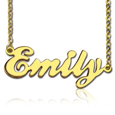 Cursive Script Name Personalised Necklace 18ct Solid Gold - AMAZINGNECKLACE.COM