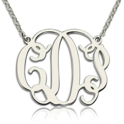 Personalised Taylor Swift Monogram Necklace Sterling Silver - AMAZINGNECKLACE.COM