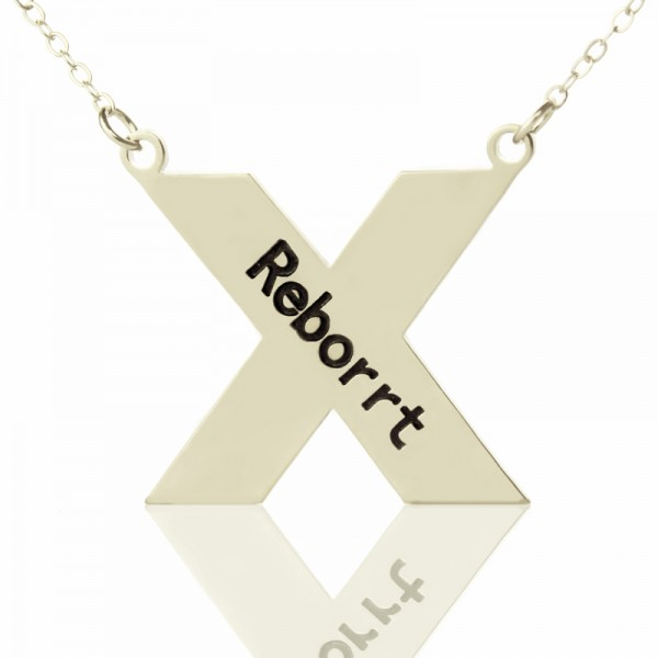 Personalised Silver St. Andrew Name Cross Necklace - AMAZINGNECKLACE.COM