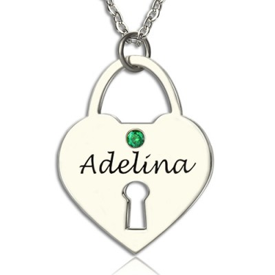 Personalised Heart Keepsake Pendant with Name Sterling Silver - AMAZINGNECKLACE.COM