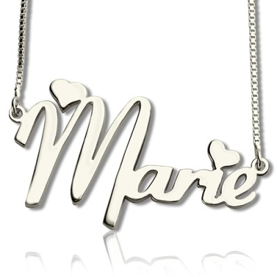 Personalised Cute Name Necklace Sterling Silver - AMAZINGNECKLACE.COM