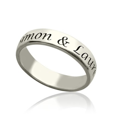 Personalised Promise Name Ring Sterling Silver - AMAZINGNECKLACE.COM