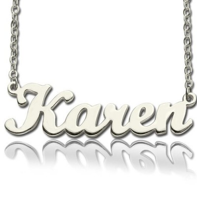 Personalised Script Name Necklace Sterling Silver - AMAZINGNECKLACE.COM