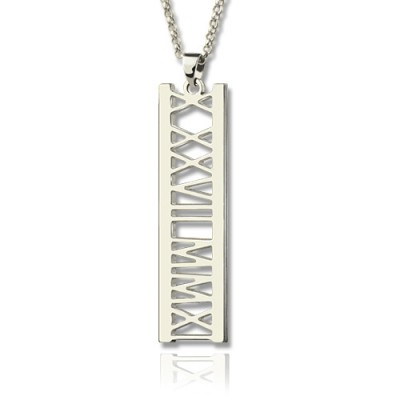 Special Date Personalised Necklace Sterling Silver - AMAZINGNECKLACE.COM