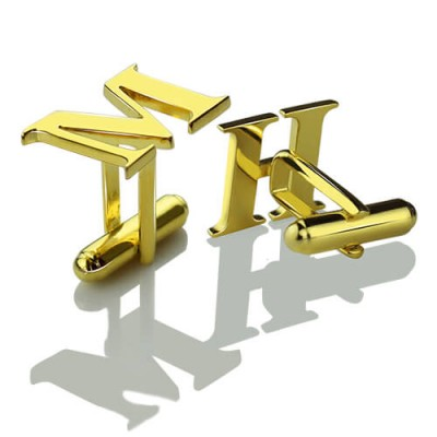 Best Initial Cufflinks 18ct Gold Plated - AMAZINGNECKLACE.COM