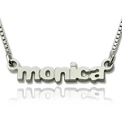 My Tiny Name Personalised Necklace Custom Sterling Silver - AMAZINGNECKLACE.COM