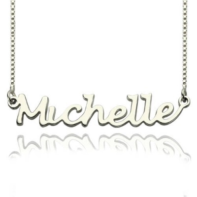 Handwriting Name Personalised Necklace Sterling Silver - AMAZINGNECKLACE.COM