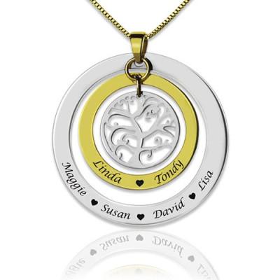 Grandma Family Tree Names Personalised Necklace - AMAZINGNECKLACE.COM