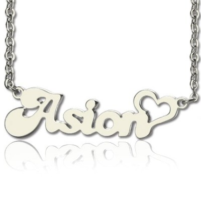 My Name Personalised Necklace Persnalized in Silver - AMAZINGNECKLACE.COM