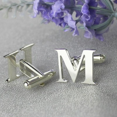 Best Designer Cufflinks with Initial Sterling Silver - AMAZINGNECKLACE.COM