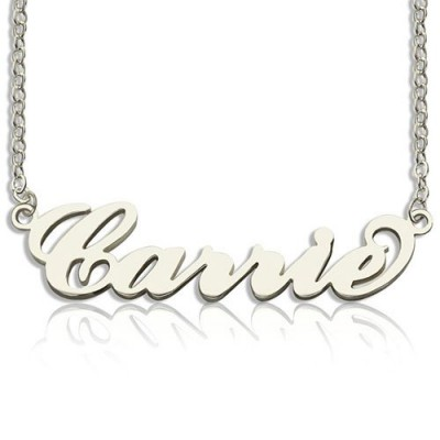 Personalised Carrie Name Necklace Sterling Silver - AMAZINGNECKLACE.COM