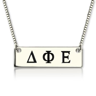 Custom Alpha Gamma Delta Greek Letter Sorority Bar Personalised Necklace - AMAZINGNECKLACE.COM