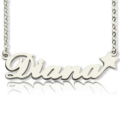 Personalised Letter Necklace Name Necklace Sterling Silver - AMAZINGNECKLACE.COM