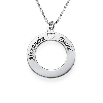 Sterling Silver Couples Love Personalised Necklace - AMAZINGNECKLACE.COM
