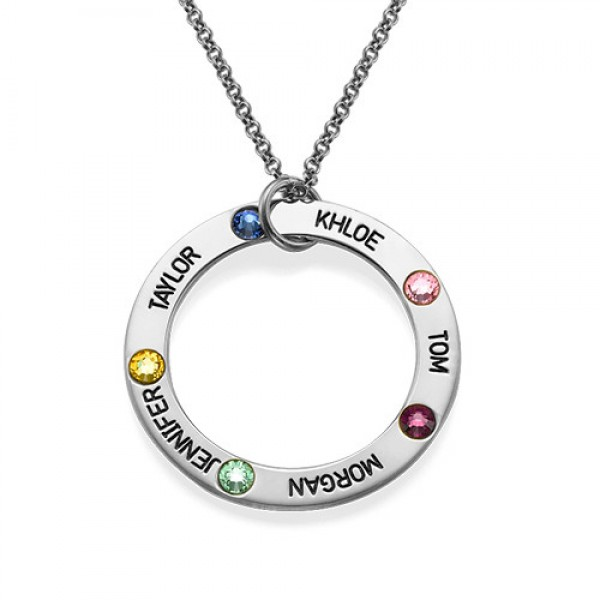 Swarovski Infinity Personalised Necklace with Engraving - AMAZINGNECKLACE.COM