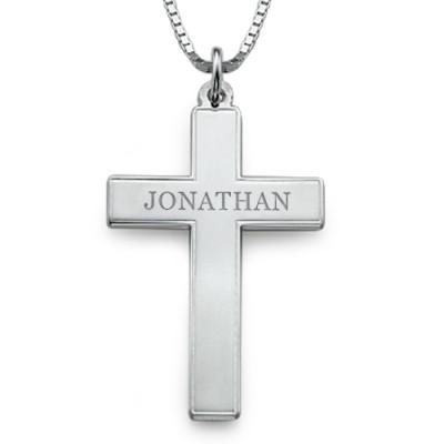 Men's Personalised Cross Necklace - AMAZINGNECKLACE.COM