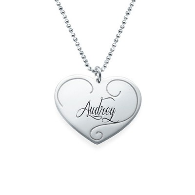Engraved Heart Pendants - Mother Daughter Jewellery - AMAZINGNECKLACE.COM