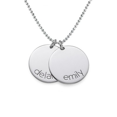 Engraved Kids Disc Personalised Necklace - AMAZINGNECKLACE.COM