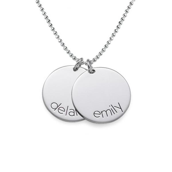 Engraved Kids Disc Personalised Necklace - AMAZINGNECKLACE.COM