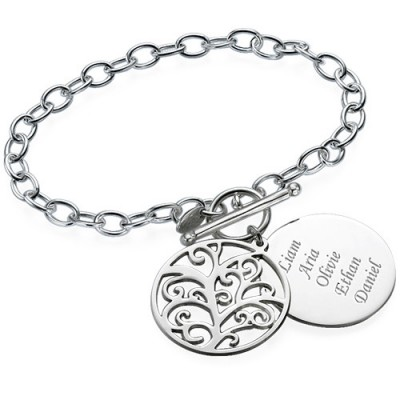 Filigree Tree of Life Personalised Bracelet/Anklet - AMAZINGNECKLACE.COM